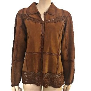 Carducci boho western suede embroidered jacket